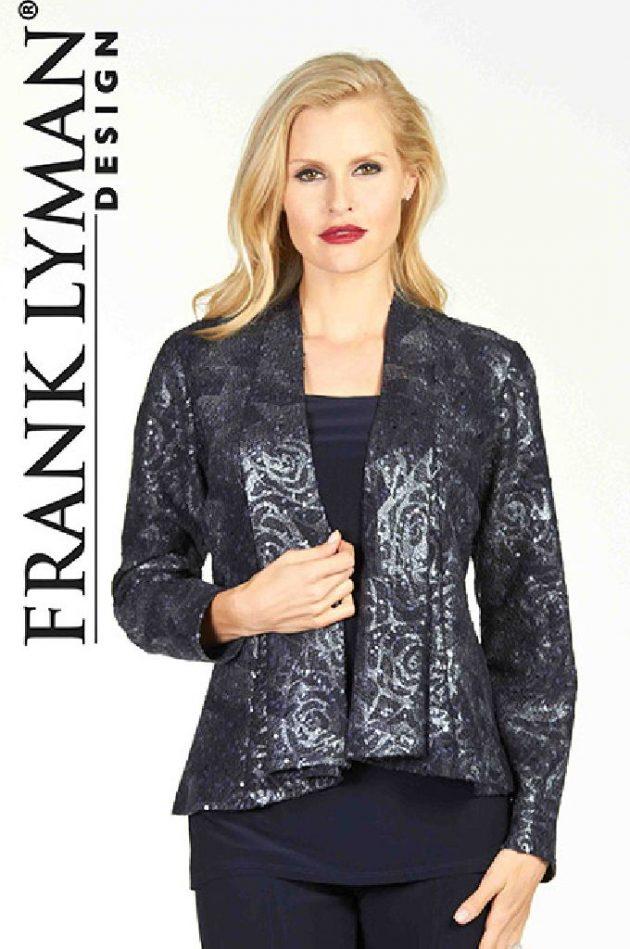 Frank Lyman 64658 Navy & Silver Jacket