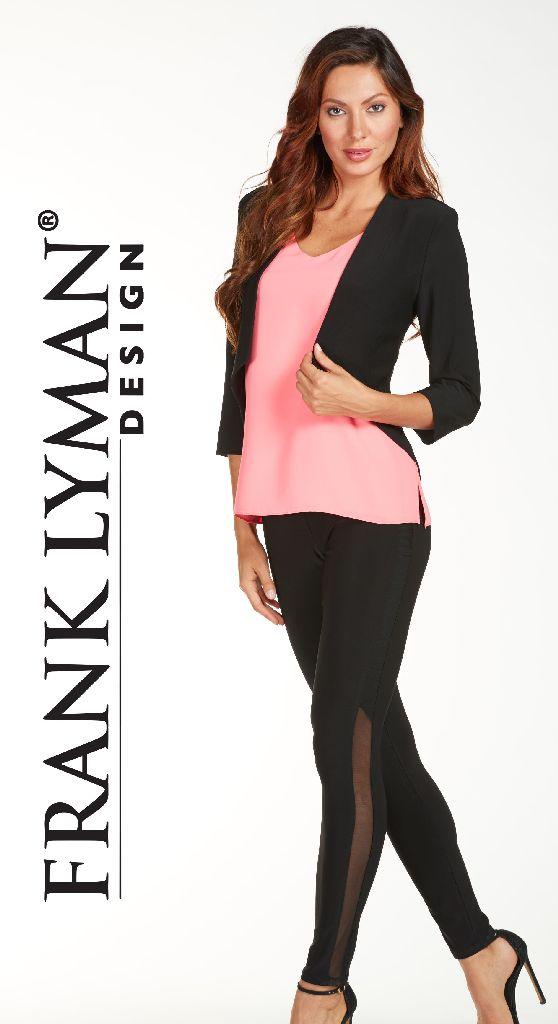 Frank Lyman 65080 Black See Through Side Leggings