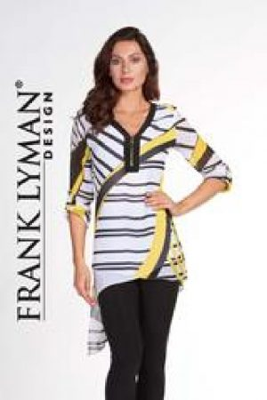 Frank Lyman 66242 White Black Yellow Long Tunic