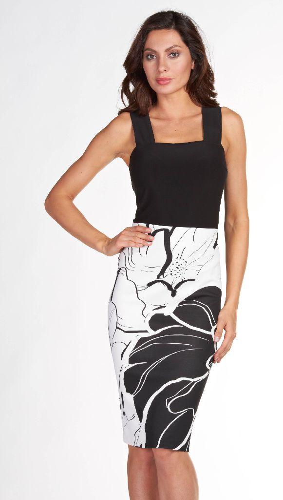 Frank Lyman 66313 White & Black Skirt