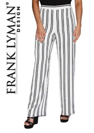 Frank Lyman 66393 Cream & Black Striped Trousers