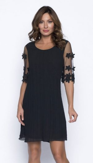 Frank Lyman 191131U Black Voile Cocktail Dress