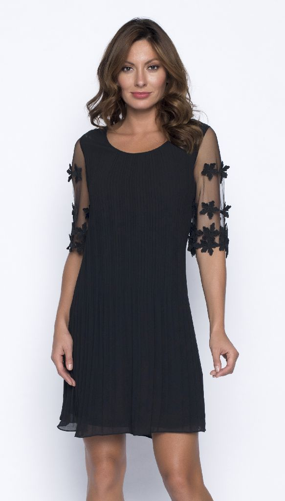 Frank Lyman 191131U Black Voile Cocktail Dress