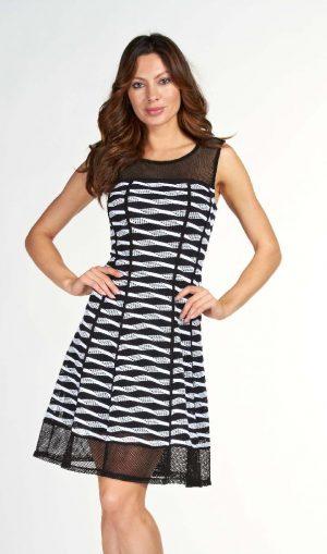 Frank Lyman 61520 Black and White Dress