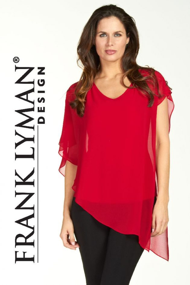 Frank Lyman 64608 Red Voile Top