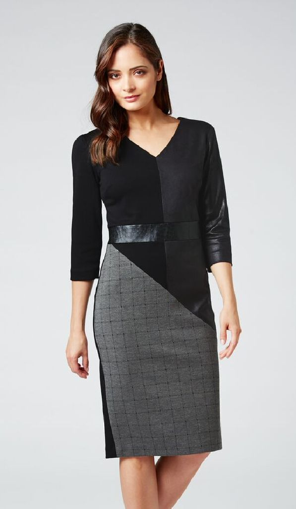 James Lakeland 8219-03 Black, Grey Dress