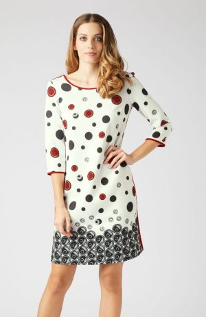 James Lakeland 8236-04 Spotted Dress