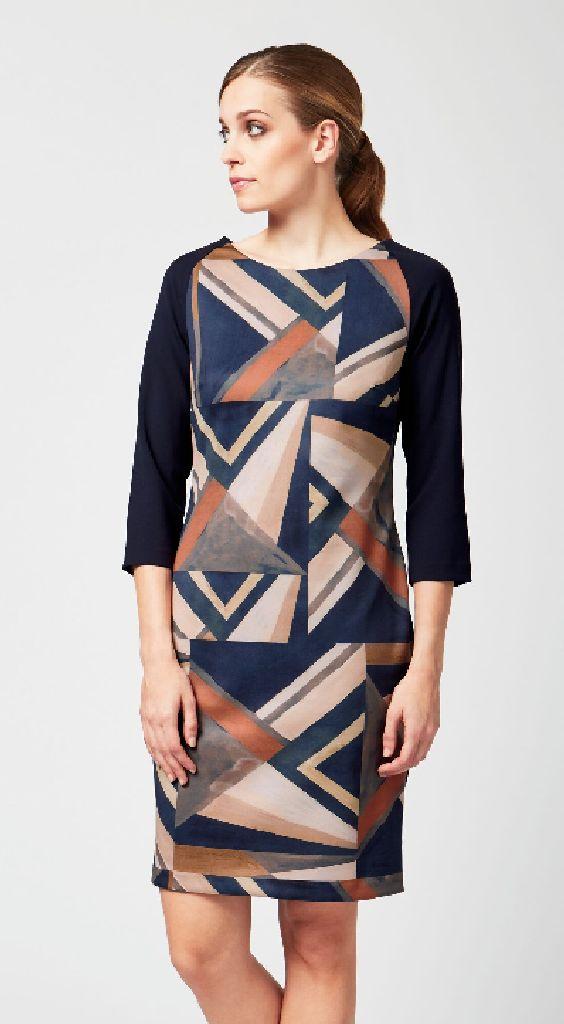 James Lakeland 8317-03 Geometric Design Dress