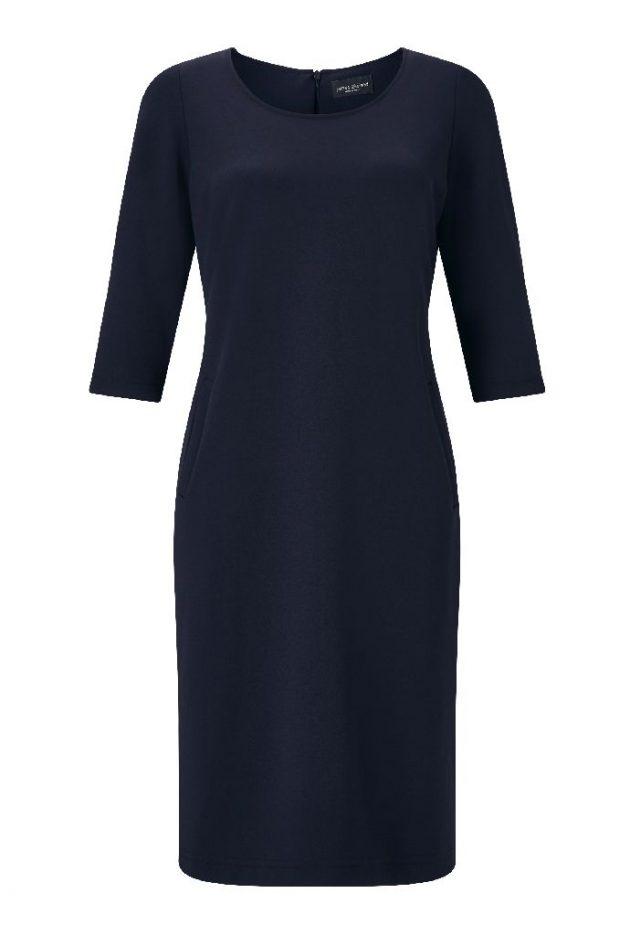 James Lakeland AB9337-04 Navy Shift Dress With Sleeves