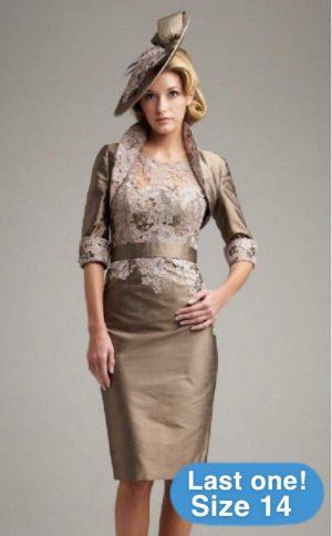 John Charles 25406 Bronze Dress & Bolero