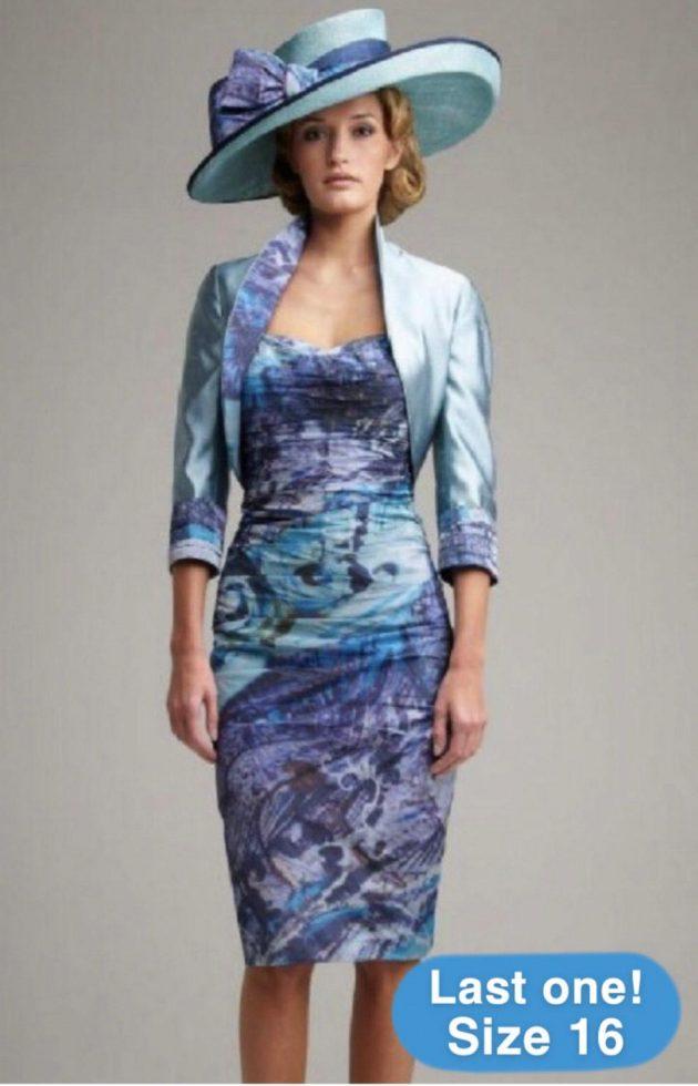 John Charles 25429 Ocean Blue Dress & Bolero