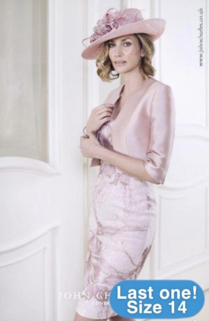 John Charles 25921A Blush Dress & Jacket