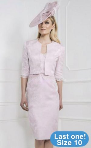 John Charles 25936 Blush Dress & Jacket