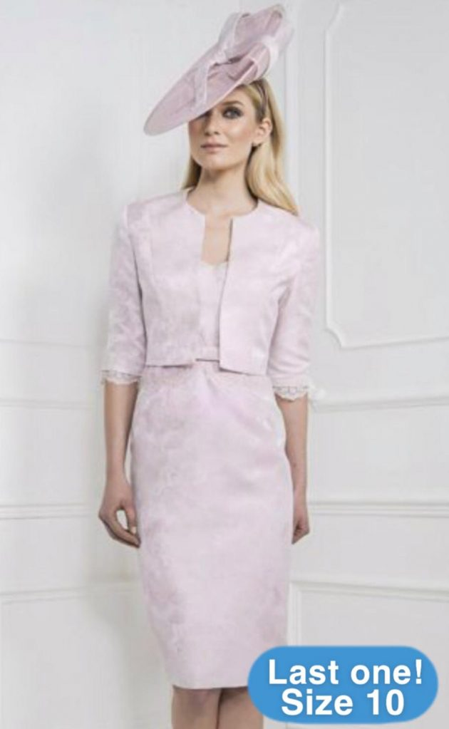 John Charles 25936 Blush Dress & Jacket