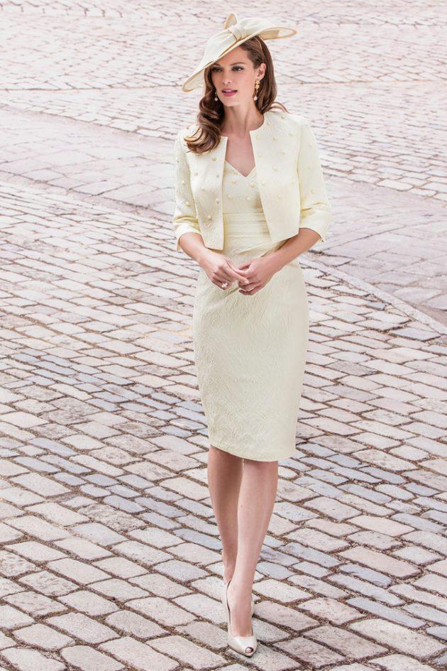 John Charles 26211 Lemon Dress & Jacket