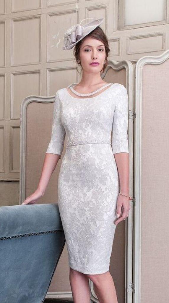 John Charles 26417B Silver Dress