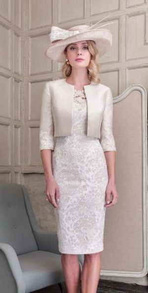 John Charles 26428A Champagne Dress & Jacket