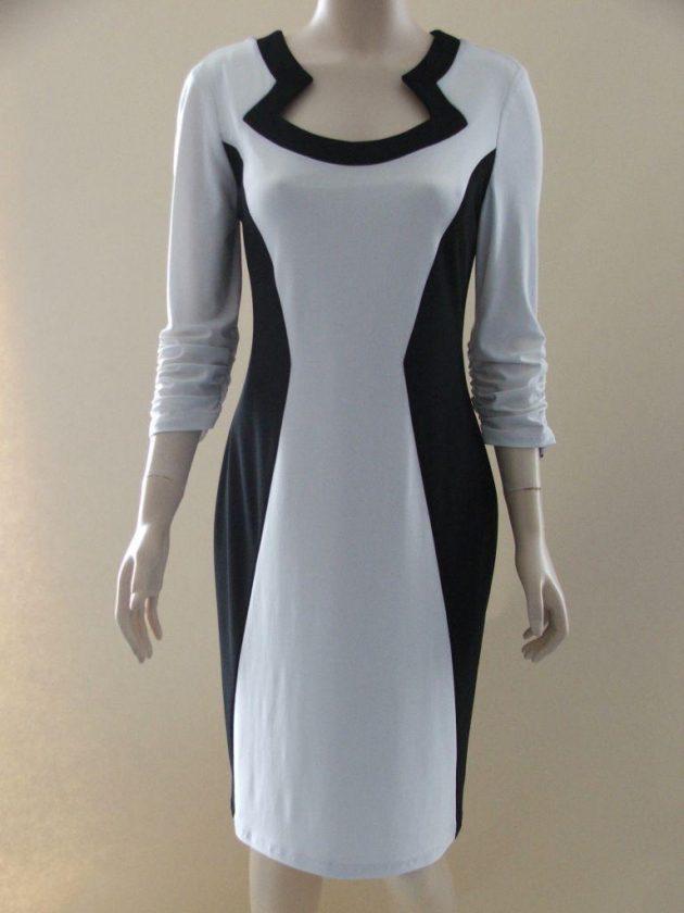 Joseph Ribkoff 03291 White & Black Retro Dress