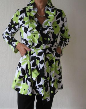 Joseph Ribkoff 10470 Lime, Black, White Dress Coat
