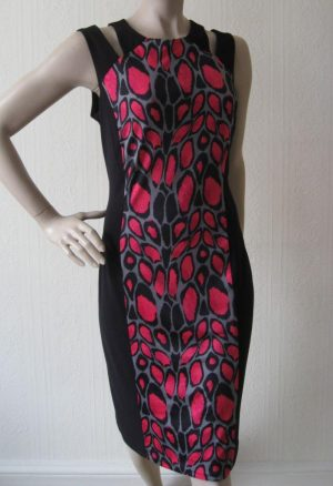 Joseph Ribkoff 12242 Black and Fuschia Dress