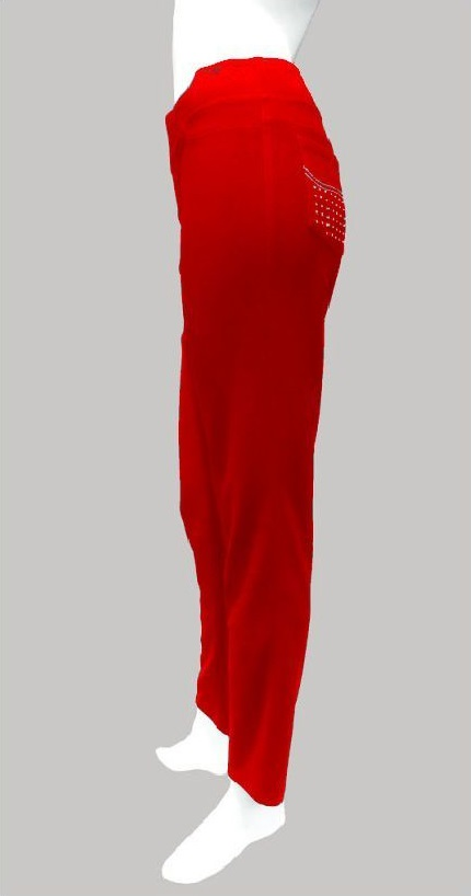 Joseph Ribkoff 30070 Red Diamante Pocket Trousers
