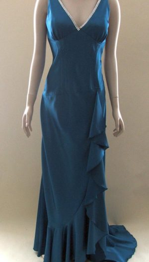 Joseph Ribkoff 70213 Peacock Blue, Evening Gown