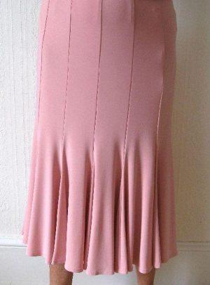 Joseph Ribkoff 70346 Rose Pink Swirl Skirt