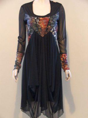 Joseph Ribkoff 22735 Black Multi Voile Dress