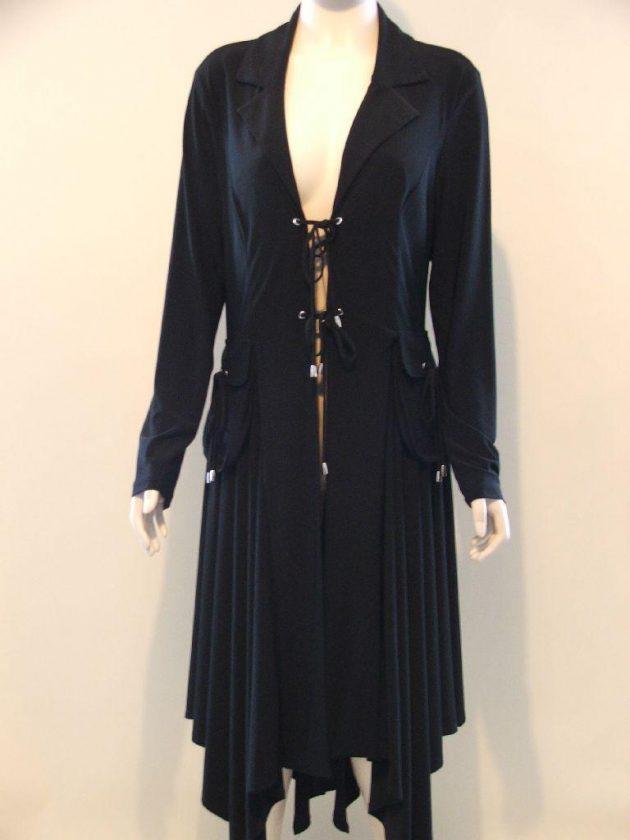 Joseph Ribkoff 12029 Black Tie Fronts Coat