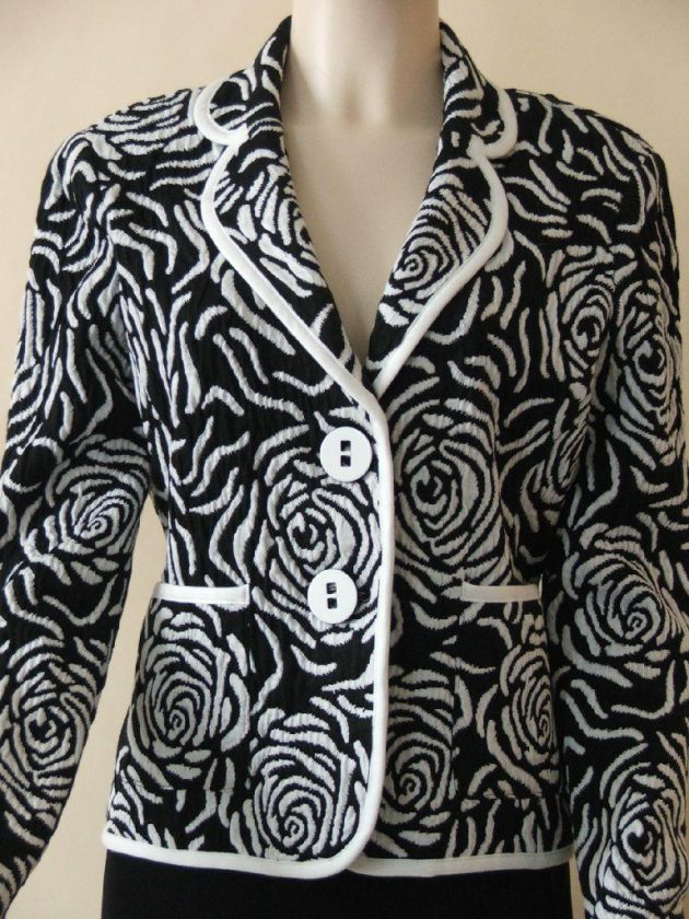 Joseph Ribkoff 22432 Black & White Swirl Jacket