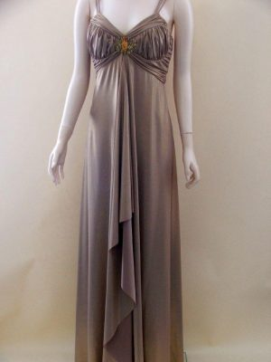 Joseph Ribkoff 82099 Gold Lame Evening Dress
