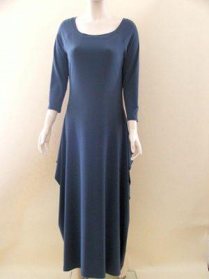 Joseph Ribkoff Grey 12006 Ruched Sides Dress
