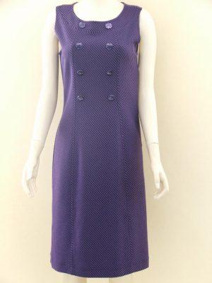 Joseph Ribkoff 39663 Purple Black Stripe Wool Dress