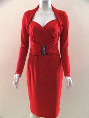 Joseph Ribkoff 03300 Red Long Sleeve Cocktail Dress