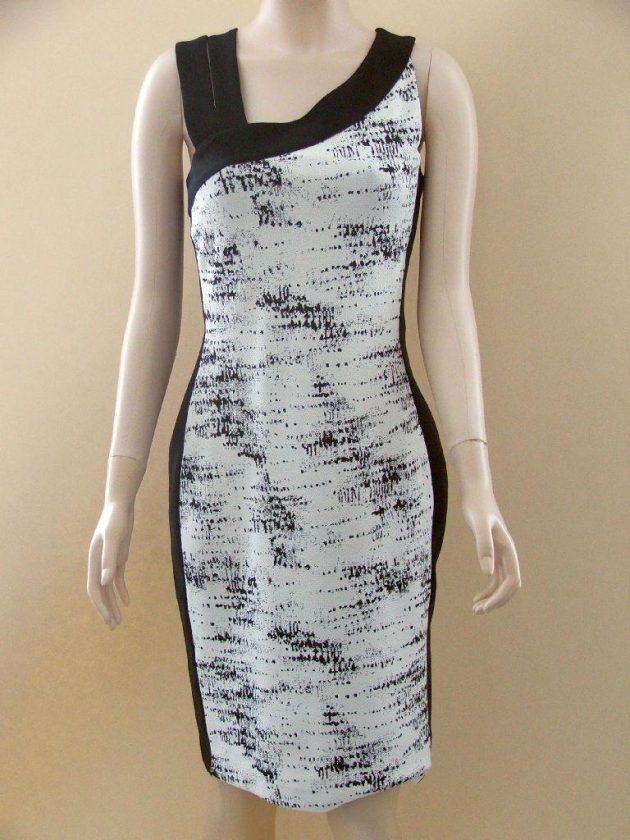 Joseph Ribkoff 22751 White and Black Speckled Dress