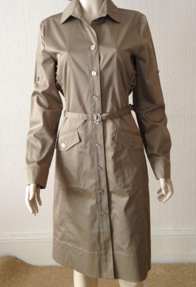 Lucia 428132 Khaki Shirt Waisted Dress