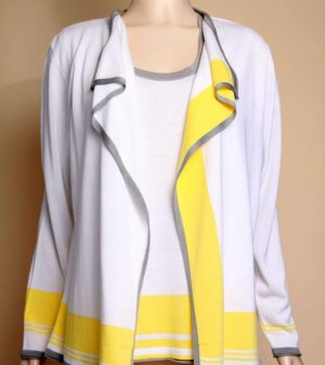 Lucia 452334 White, Yellow,Grey Cardigan Only
