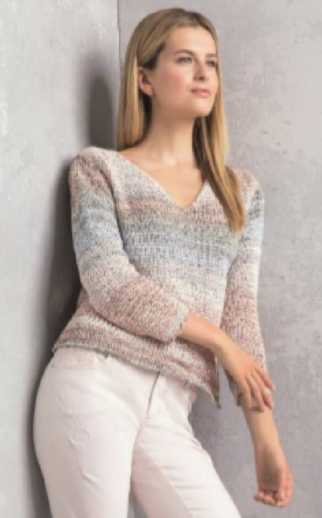 Lucia 471424 Pink and Grey Sweater