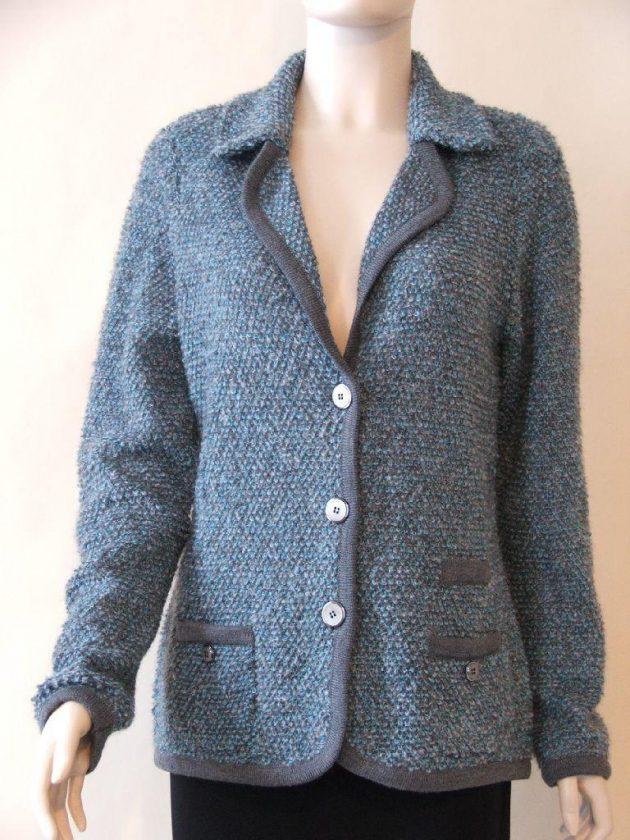 Lucia 432398 Turquoise Grey Boucle Jacket