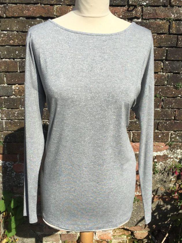 Maria Bellentani 2837 Silver Grey Sweater