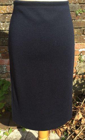 Maria Bellentani 5511 Navy Straight Skirt