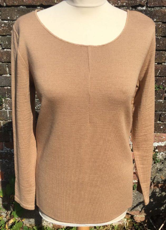 Maria Bellentani 5552 Camel & Navy Sweater