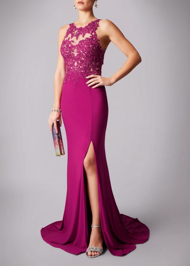Mascara MC181223G Wine Pink Dress