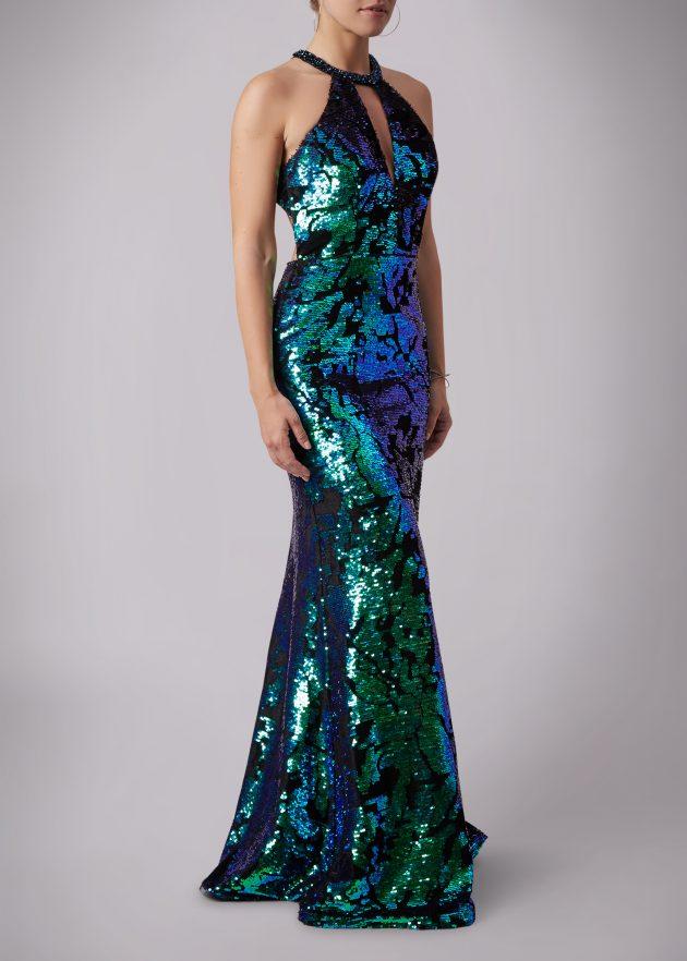 Mascara MC181353 Green and Purple Dress