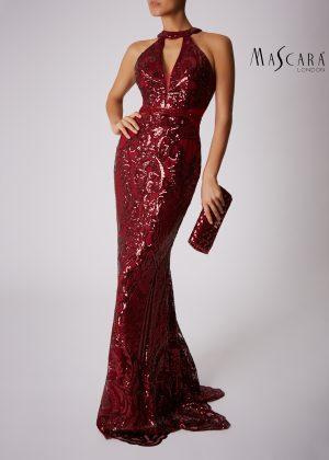 Mascara MC181363 Red and Black Dress