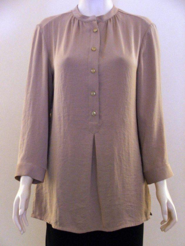 Simorra 80101805 Camel G'dad Collar Buttoned Blouse